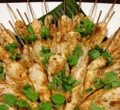 Satay Chicken Skewers - Served with a Peanut sauce